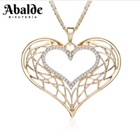 Collar Colgante Mujer Corazón Love Amor Oro Joya Accesorio Regalo ideal Novia