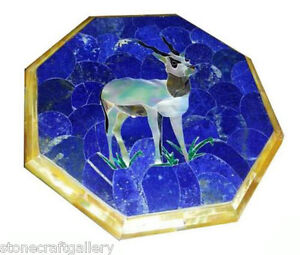 """18"""" Marble Center Coffee Table Top Inlay Handicrafts Work For Home Decor"""