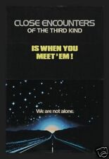 CLOSE ENCOUNTERS OF THE THIRD KIND ADVANCE MOVIE POSTER