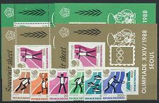 Indonesien 1260/65 Block 60/61 A + B postfrisch / Olympiade ....................