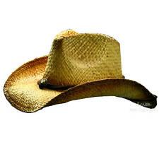 *051  Westernhut Stroh Cowboy Strohhut ca. Gr.56/58 One-Size