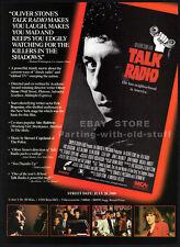 TALK RADIO__Orig. 1989 Trade print AD __ERIC BOGOSIAN__ELLEN GREENE_OLIVER STONE