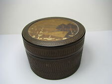 A CASED SET of 8 BAMBOO COASTERS BOXED EIGHT WOODEN COASTERS Asia Japan ca1900s