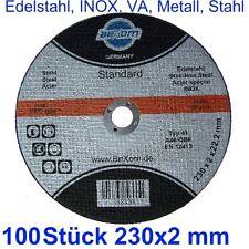Cutting disc 230 x 2 mm 100 Pieces 9 x(5/64)x(7/8) Metal Steel INOX Stainless VA