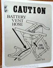 KAWASAKI KH250 KH400 BATTERY BREATHER CAUTION WARNING DECAL