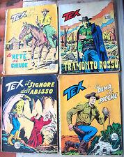 1969 'TEX GIGANTE' LOTTO 4 FUMETTI n° 103 - 112 - 115 - 116 PRIMA EDIZ. L. 200