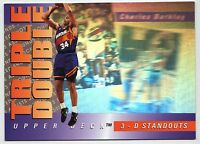 Charles Barkley 3D STANDOUT HOLOGRAM TRIPLE DOUBLE CARD INSERT RARE HUGE BV$$$