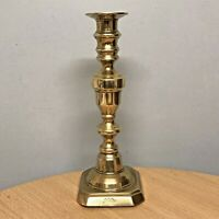 ANTIQUE SCARCE EARLY VICTORIAN J. BARLOW'S PATENT BRASS CANDLESTICK