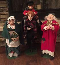 DEPT 56 Heritage Village Dickens Christmas Carol Doll Scrooge Cratchit Wife Tim