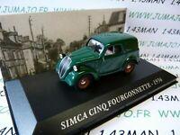 AUT13M Voiture 1/43 IXO altaya Voitures d'autrefois SIMCA CINQ fourgonnette 1936