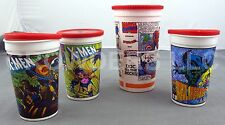 Pizza Hut X-Men & Hardee's Spider-Man/Captain America Cup Collection w/ Lids '93