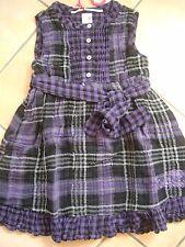 (35) NoLIta Pocket Girls vestido con cinturón madreperla botones y logotipo de presión gr.140