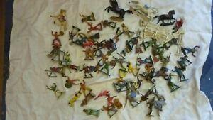 lot 60 figurine starlux chevalier indien cow boy militaire