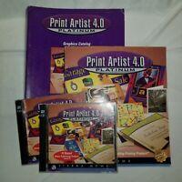 Print Artist 4.0 Platinum - PC or MAC - complete with graphics catalog