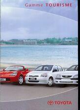 Y2K Year 2000 Paris Auto Show Brochure: Toyota Yaris Prius Corolla Celica MR +++