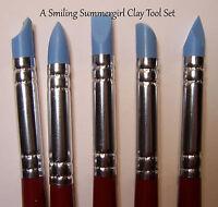 5 Sm Clay Shaper Tools - Sculpt Dolls, Design Jewelry, Texture PMC Polymer Art