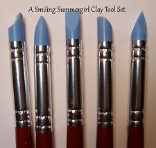 5 Small Clay Tools - Flexible Silicone Nibs for PMC, Polymer, PaperClay, Ceramic