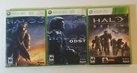 Halo Reach, HALO 3, HALO 3 Odst. LOT 3 XBox 360 GAMES Complete