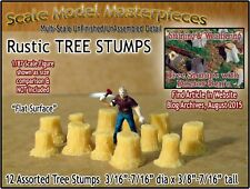 Rustic Tree Stumps-Assorted Straight 12pcs Scale Model Masterpieces HO/1:87 fsm