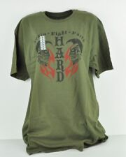 Roundhouse Olive Green Train Fight Party Hard Large Tshirt Crew Neck Skulls
