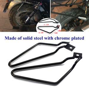 Motorcycle Bracket Rack Saddle Pannier Bag Black Spacer Support Bar Protector