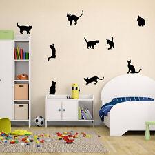 Extraíble 9 Gatos Vinilos Adhesivos De Pared Hogar Mural Adhesivos Decoración