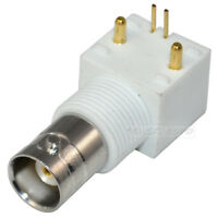 BNC Female Jack with Nut Solder PCB Mount 90º Angled RF Coax Convertor Adapters