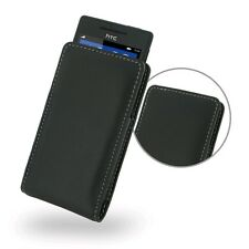 PDair Leather Case for HTC Windows Phone 8S (Vertical Pouch Type, Black)