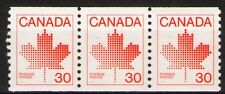 Canada 1982 Sc950 $ 2.7  Mi821C 2.4 MiEu  1 Strip of 3x  mnh  Coil Stamp