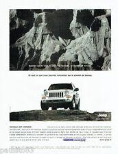 PUBLICITE ADVERTISING  026  2002  Jeep  la  nouvelle Cherokee