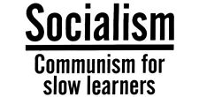 Wholesale Lot of 6 Socialism Communism For Slow Learners White Bumper Sticker