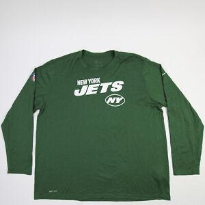 New York Jets Nike Dri-Fit Long Sleeve Shirt Men's Green Used