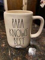 "New RAE DUNN Artisan 2020 Collection LL ""PAPA KNOWS BEST"" Mug By Magenta"