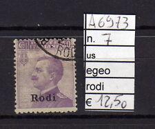 FRANCOBOLLI ITALIA COLONIE EGEO RODI USATI N°7 (A6973)
