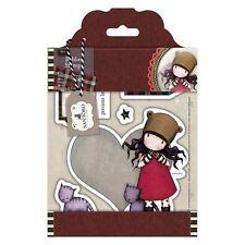 PURRRRRFECT LOVE-Docrafts Santoro Gorjuss Rubber Stamp-Stamping Craft-Tweed Girl