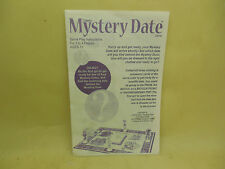MYSTERY DATE GAME RULES BOOKLET(Milton Bradley)