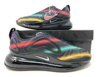 Womens Nike Air Max 720 Black/Metallic Silver Running/Lifestyle Shoes AR9293 023