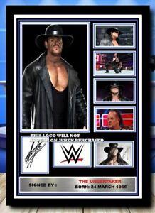 (575) the undertaker wrestling wwe signed photograph unframed/framed reprint @@@