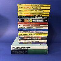 Lot Of 19 Vintage John Brunner Science Fiction Paperbacks 2 Hardcover Good Cond