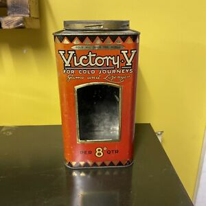Victory V Gums And Lozenges Tin Glass Front Sweet Shop Tin Advertising