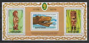 AITUTAKI , COOK ISLANDS , 1978 , CAPT. COOK , SOUVENIR SHEET  PERF , MNH