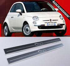 Fiat 500 Stainless Steel Sill Protectors / Kick plates