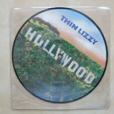 """THIN LIZZY Hollywood / The Pressure Will Blow UK 7"""" picture disc Phonogram 1981"""