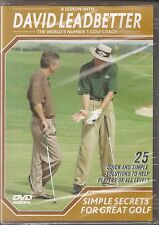David Leadbetter's Simple Secrets For Great Golf (DVD, 2004)