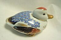 Tapestry Collection Hand Painted Porcelain Duck Paperweight