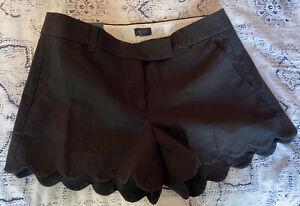 NWT JCrew factory Black  linen Shorts Sze 6