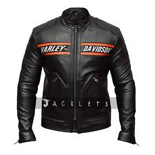 Men's Black Bikers Harley Davidson Leather Jackets Bill Goldberg Style