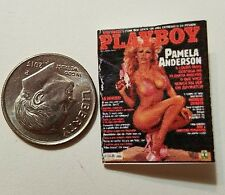 "Miniature Dollhouse book magazine 1"" 1/12 scale Playboy Pamela Anderson Gun"