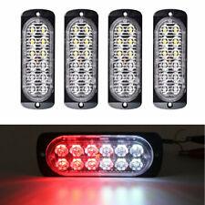 4x Red/White 12LED Car Truck Emergency Beacon Warning Hazard Flash Strobe Light