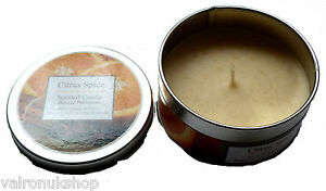 CANDLE IN A TIN CITRUS FRAGRANCE